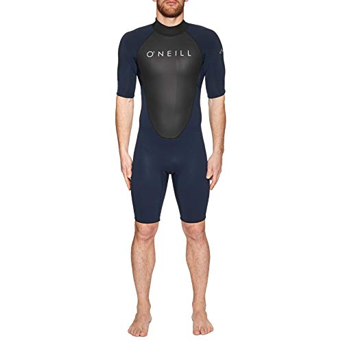 XL ONeill 2019 Skins Short Sleeve Turtle Neck Rash Vest White//Midnite Oil 4517 ONeill Mens Size