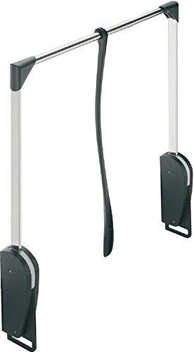 Kleiderstange mit Soft-Close Dämpfung Wardrobelift für Wandmontage Kleiderlift Schrank-Lift | Kleiderlüfter klappbar schwarz | breitenverstellbar 600-1000 mm | GedoTec® powered by Häfele