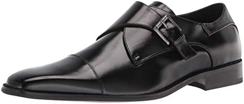 STACY ADAMS Men s Bennett Cap Toe Monk Strap Loafer Black 8 5 product image