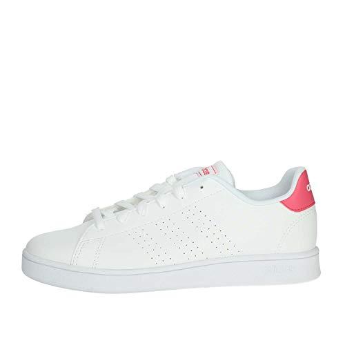 Adidas Advantage K, Soccer Shoe, Ftwbla/Rosrea/Ftwbla, 30 EU
