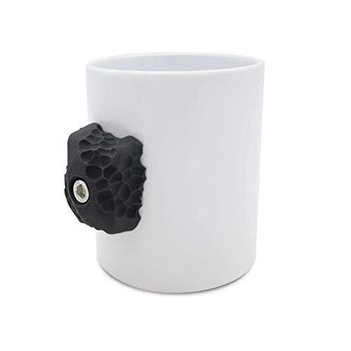 Kletterbecher (schwarz)   Kletterer-Geschenk mit echten Klettergriffen   Stärkt Ihre Finger