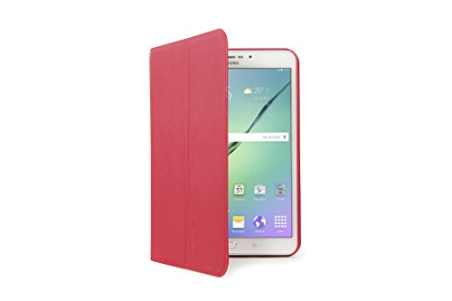 Tucano Riga–Covers for Tablets (Folio, Red, Leatherette, Samsung, Galaxy Tab S28, Dust Resistant, Scratch Resistant)