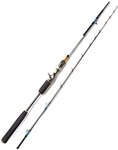 Canne à pêche Pêche en mer Jigging Rod coulée Carbon Spinning Bateaux de pêche Rod-Coulée Rod MH Canne à Lancer (Color : Casting Rod, Size : 2.1m MH)