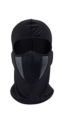 SPENCA Black Free Size Full Face Dust Proof Mask for Bike Cycle...