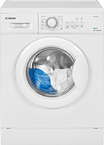 Bomann WA 5728 Waschmaschine Frontlader/EEK A++/6 kg/10 Programme+Zusatzoptionen/1000...