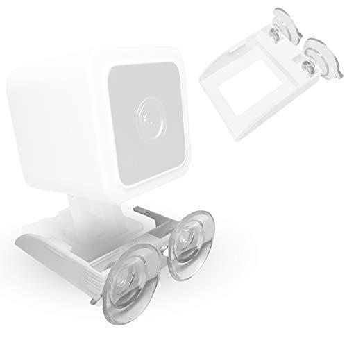 V3 Wyze Soporte seguro de succión compatible con cámara (cámara no incluida) – Estante de soporte con ventosas dobles que permite girar 360 – Se fija a vidrio de ventana,...