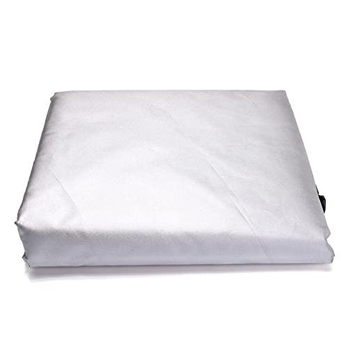 Cubierta de polvo de los muebles de la cubierta de la lluvia del paño protector de los muebles al aire libre de la cubierta del agua anti-salpicaduras oscilación-Plata, 265*95*90