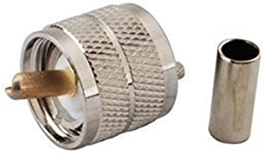 2pcs Rf Electronics Wire Coaxial Cable Terminal Copper Alloy Connector Uhf (Pl-259) Plug Straight Crimp for Rg174 Rg316 Lmr100 Ships from USA