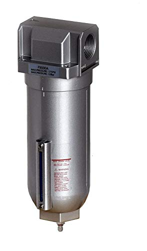 1' Inline Air Compressor Water Moisture Filter Trap Separator w/ Manual Drain