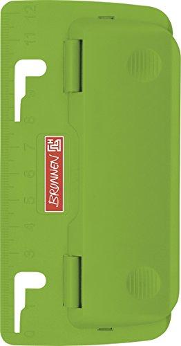Brunnen 102065052 Taschenlocher Colour Code (zum Abheften, mit Linealprägung und Niederhalterfunktion) grün / kiwi