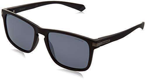 Polaroid Unisex-Erwachsene PLD 2088/S Sonnenbrille, MTT SCHWARZ, 55