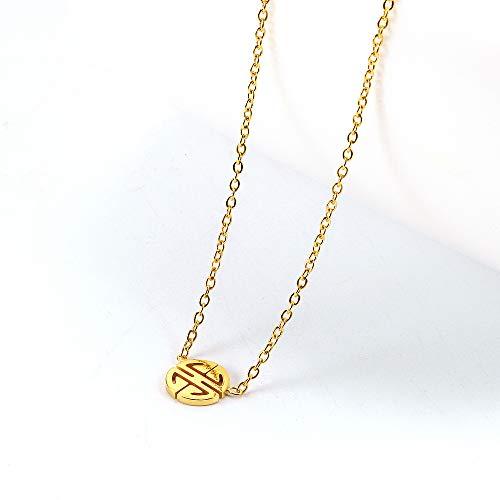 Vergulde ketting dames titanium staal eenvoudige sleutelbeen ketting ronde coltrui ketting zilver zilver optioneel,Gold