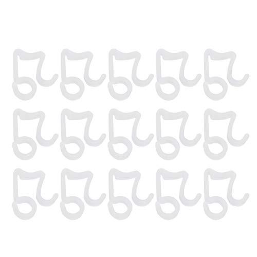 Artibetter 100 Piezas de Clips de luz de Navidad Ganchos para canalones...
