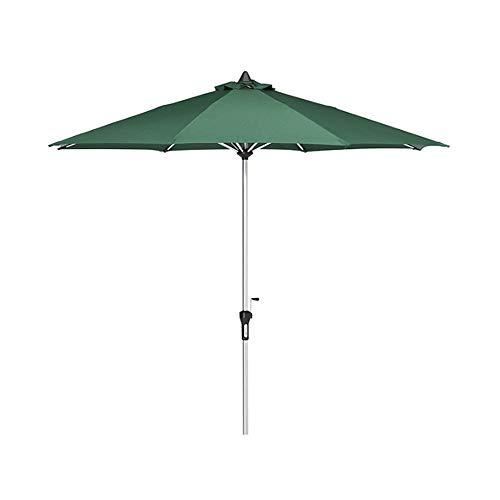 Jardín Parasol, Ajustable Redonda Playa Sombrillas, Tamaño Grande de la Cortina de Sun Canopy con manivela Polo, Al Aire Libre Protección Parasol Herramienta de 2,7 M / 106.2In,Verde