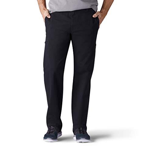 Lee Men's Performance Series Extreme Comfort Cargo Pant, Black, 36W x 30L