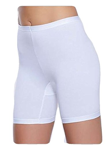 """SLIP GAMBA LUNGA DONNA""""JADEA"""" in cotone elasticizzato - CONFEZIONE DA 3 PEZZI - Disponibile nel colore Bianco"""
