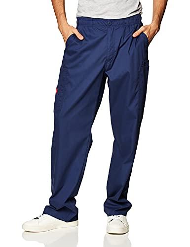 Dickies Men's Size Signature Elastic Waist Scrubs Pant, Navy, XX-Large Tall