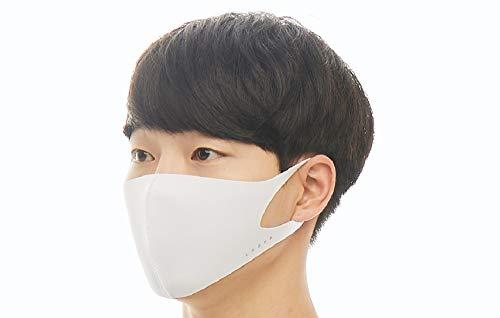 LOOKA ルカ デザイン マスク 花粉症対策 uv kpop 繰り返し 洗える 蒸れない 肌荒れしない 個包装 黒 ファッション Mサイズ Sサイズ 男女兼用 WHITE M