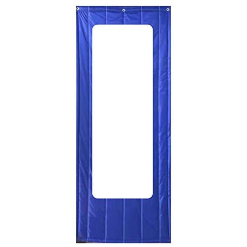Cortina de Puerta Al Aire Libre Cortina Estanca Aislamiento Térmico Mantener Caliente Cortina De Partición Invierno Protección contra El Frío, Azul, 3 Estilos (Color : C, Size : 120x210cm)