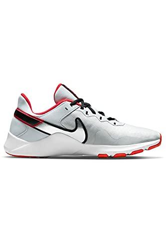 Nike Men's Legend Essential 2 Football Grey/Purple Pulse-Fireberry Training Shoes (CQ9356-018)