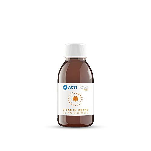Vitamin D3 + K2 liposomal | Sanddorn 100 ml PURE | hochdosiert | für dein Immunsystem | Aktive Tagesdosis 1000 IU Vitamin D & 200 µg Vitamin K | hohe Bioverfügbarkeit | flüssig | ohne Zusätze