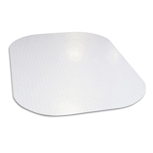 Evolve Modern Shape 45'x 60' Clear Rectangle Office Chair Mat For Low Pile Carpet, Made in the USA By Dimex, Phthalate Free (C5E6003G)
