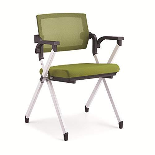 Lpinvin Trainingsstuhl Folding Training Konferenzstuhl Mode Bürostuhl Freie Installation Tragbarer Trainingsstuhl (Farbe : Black, Size : 51x52x84cm)
