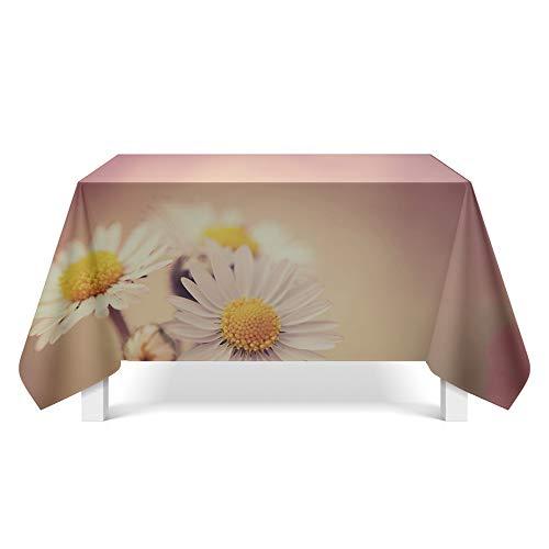 DREAMING-Ästhetische Blumenkunst Tischdecke Home Esstisch Stoff Tv-Schrank Couchtisch Stoff Runde Tisch Tischset 140cm * 180cm