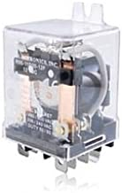 NTE Electronics R55-11D20-12F Series R55 DC General Purpose Relay, DPDT Contact Arrangement, 0.250