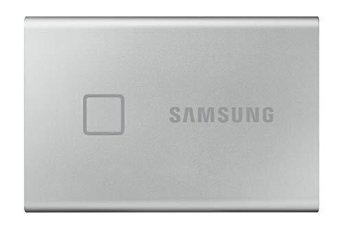 Samsung Memorie T7 Touch MU-PC500S SSD Esterno Portatile da 500 GB, USB 3.2 Gen 2, 10 Gbps, Tipo-C, Silver