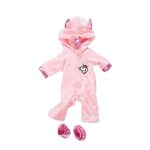 shentaotao Muñecas American Girl Unicornio Mono Establece Patrón del Caballo Ropa De La Muñeca con Los Zapatos De Las Muñecas del Bebé Decoración Ropa De Navidad Regalo Kit 1set Rosa