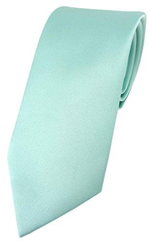 TigerTie Corbata de diseño en un solo color., verde menta, Talla única