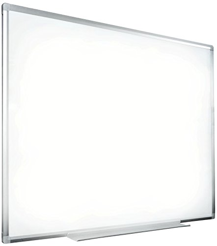 "VIVO Wall Mount Hanging Dry Erase Board Magnetic Dry Wipe 44"" x 32"" Whiteboard with Aluminum Frame (WLM-WB44)"