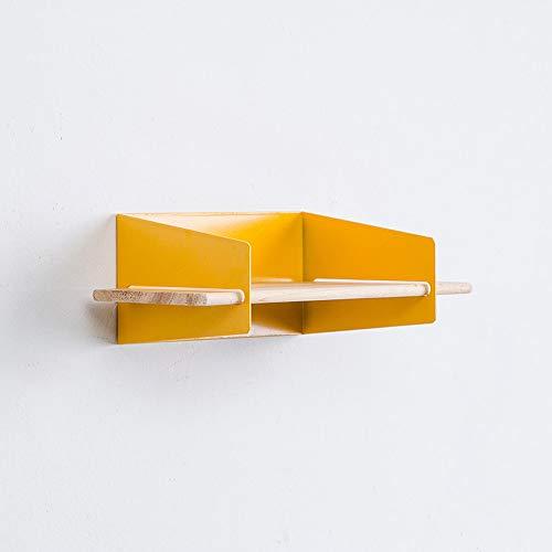 Wandregal Schweberegal HäNgeregal Wandboard ,Wandregal Industrie-Design GroßEs Schweberegal,Wandregal Schweberegal HäNgeregal HäNgeboards,Yellow-S