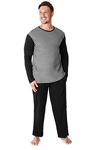 CityComfort Mens Pyjamas 100% Super Soft Cotton Men Pjs Set Pajamas for Man Nightwear Loungewear Tracksuit (Gambale Grigio Antracite, M)