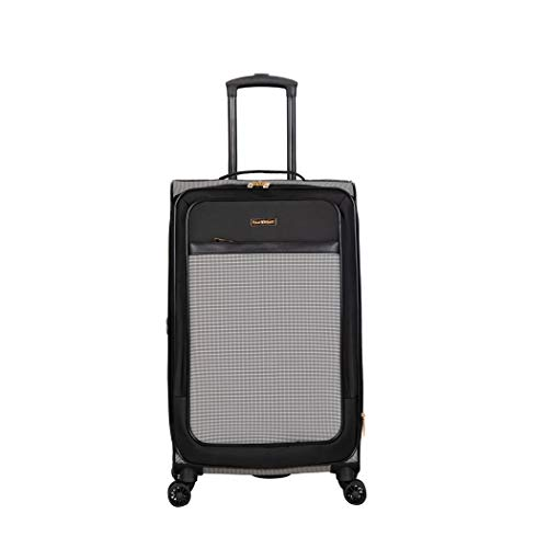 Isaac Mizrahi Greenwich 28' 8-Wheel Spinner Luggage, Black White