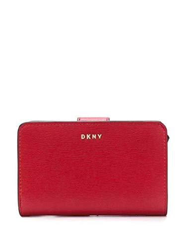 DKNY Damen-Geldbörse Karan New York R8313659 8rd bright red