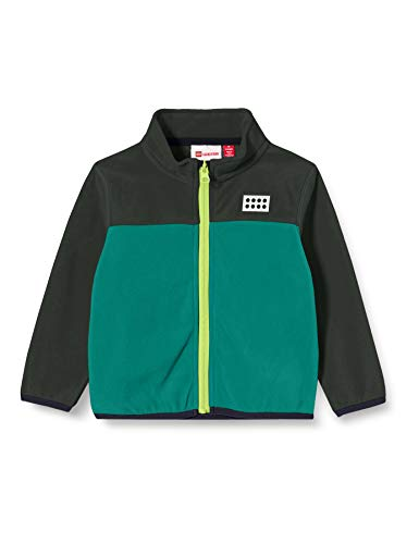 Lego Wear Baby-Unisex LWSAGAR - Fleecejacke Fleece-Jacke, 871 Dark Green, 104
