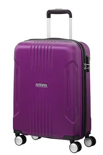 American Tourister Tracklite - Spinner Small Equipaje de Mano, 55 cm, 34 Liters, Morado (Purple)