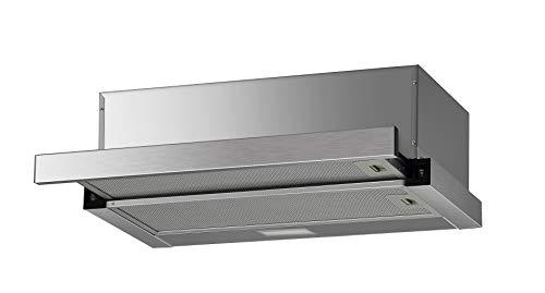 PROKIRA® FH60MS 350 m³ Flachschirmhaube Einbauhaube Unterbau Edelstahl Blende Abluft Umluft Haube Dunstabzugshaube 60 cm
