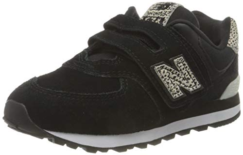 New Balance 574 YV574ANC Wide, Basket Fille, Black (Black ANC), 35