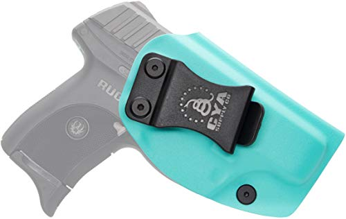 CYA Supply Co. Base Inside Waistband Holster (Teal Blue) Concealed Carry IWB Veteran Owned Company Fits Ruger LC9/LC9s/LC380/EC9s