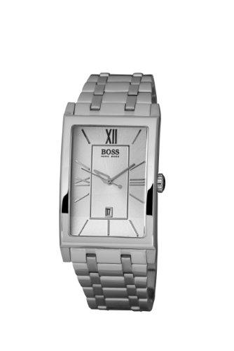 Hugo Boss 1512382 - Reloj analógico de Cuarzo para Hombre con Correa de Acero Inoxidable, Color Plateado