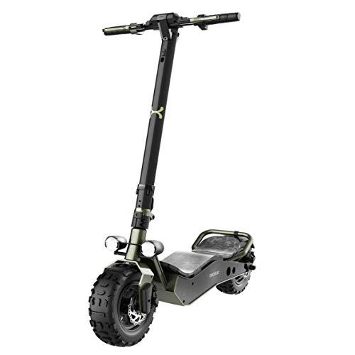 Cecotec Trottinette électrique Bongo Serie Z Off Road Dark Green Puissance Max de 800 W, Batterie Amovible, autonomie jusqu'à 40 km, Traction arrière, Pneus Anti-crevaisons 12'