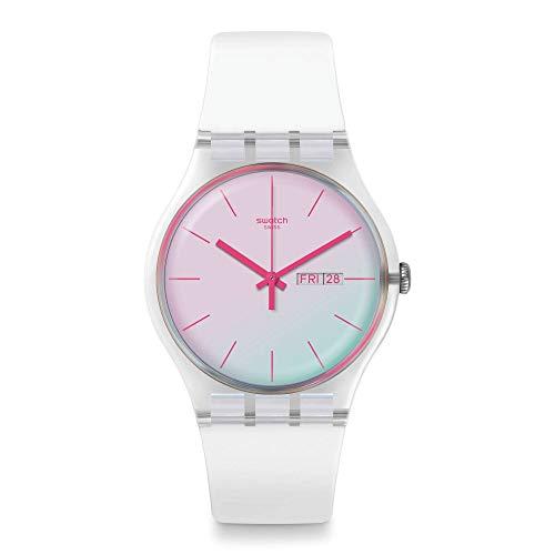 Swatch Reloj Analógico para Unisex Adultos de con Correa en Silicona SUOK713