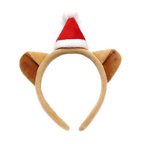 Best Deals! Luxury Christmas Headband, Christmas Costume Holiday Party Hat | Durable (Brown, Red, Pi...