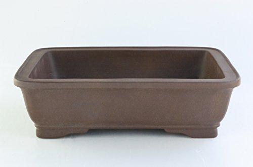 Large Unglazed 20'Rectangular Yixing Purple Clay Ceramic Bonsai Pot(PA42-20)