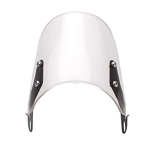 FuliLie 風防 バイク ウインドスクリーン 汎用 メーターバイザー ウインドシールド カウル 金具ビス付き (Clear)