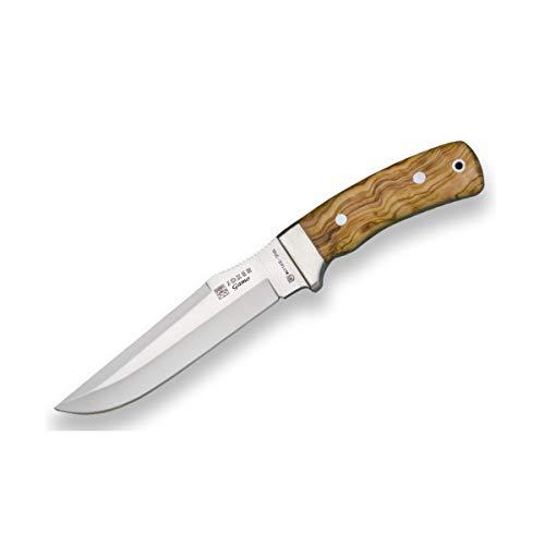Joker Gürtelmesser Messer CO46 Gamo, mit brauner Lederscheide, Olivenholzgriff und MOVA-Klinge von 15,5 cm, Angel-, Jagd-, Camping- und Wanderwerkzeug.
