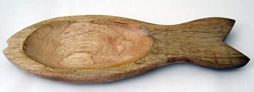 Mango-houten schaal visvorm ca. 30x10x2 5cm AV